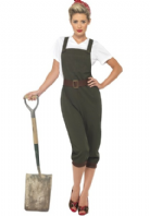 WW2 Land Army Girl Costume - Green (39491)